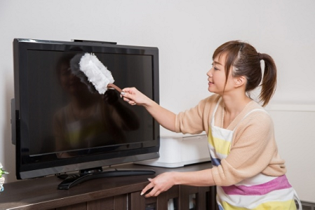 テレビの掃除
