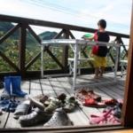 2歳児ベランダ遊び