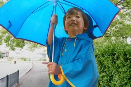 傘のリメイクで作った防水ポンチョ