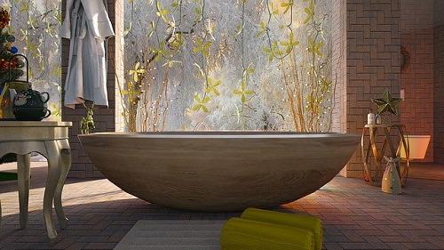 岩塩でお風呂